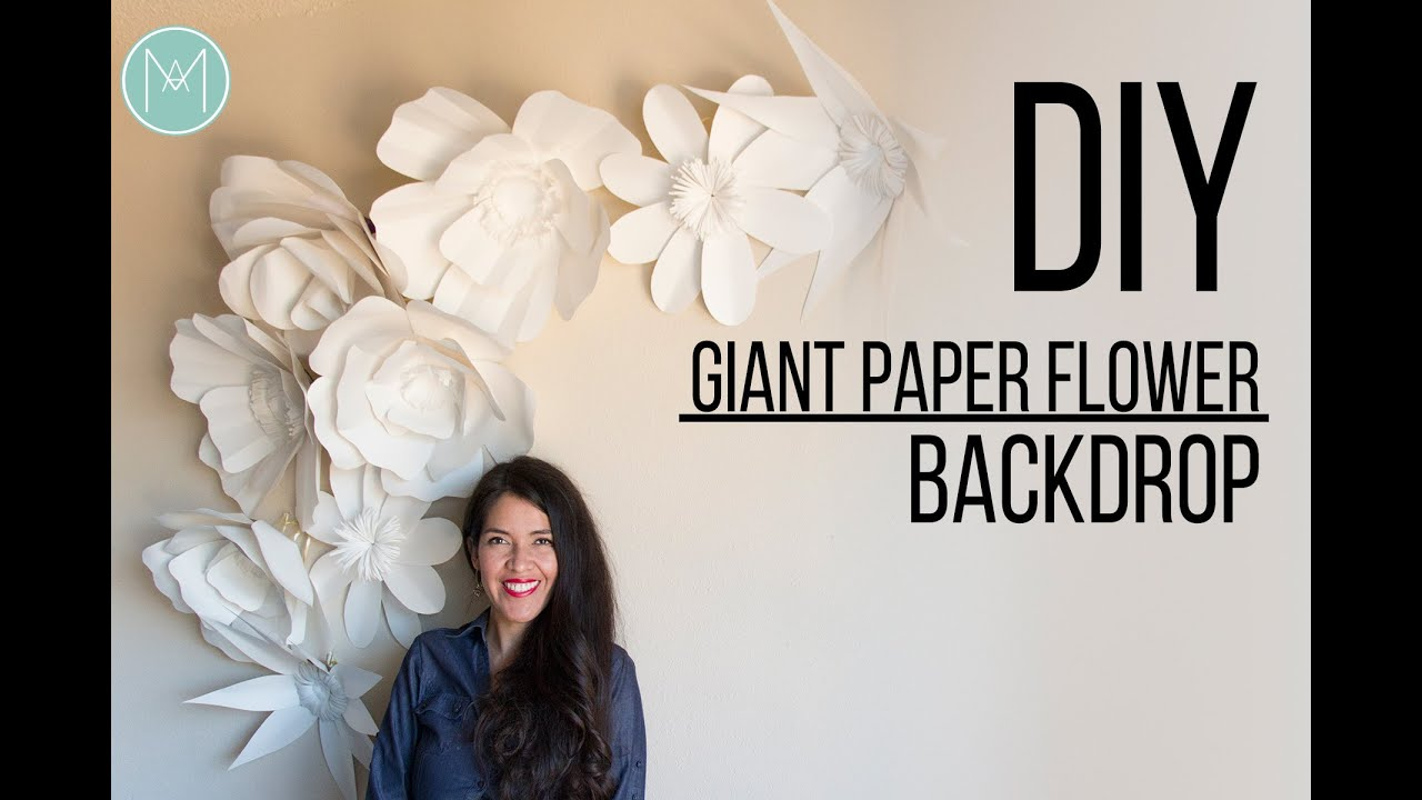 Diy Giant Paper Flower Backdrop Promo Youtube