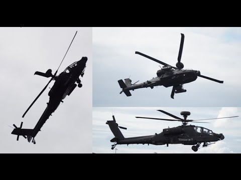 [MIND BLOWING] - Army Air Corps Augusta Westland Apache AH.1 Wingover and Stunts Display at FIA16!