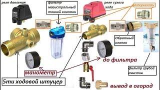 Сантехника Подача воды в частный дом и огород