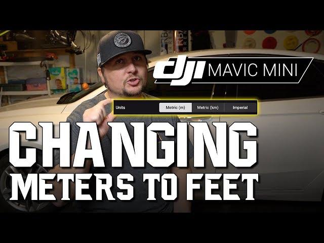 DJI Mavic Mini / Changing METERS to FEET! (Tutorial)
