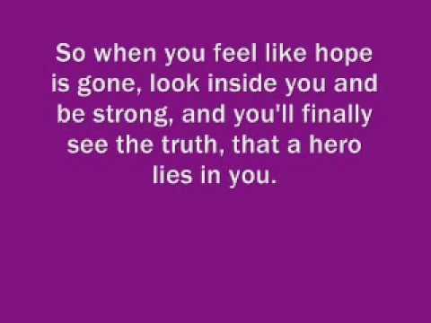 X Factor Finalists - Hero With Lyrics.