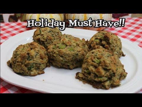 Crispy Sage Stuffing Balls ~  Make Ahead Thanksgiving ~ Noreen's Kitchen