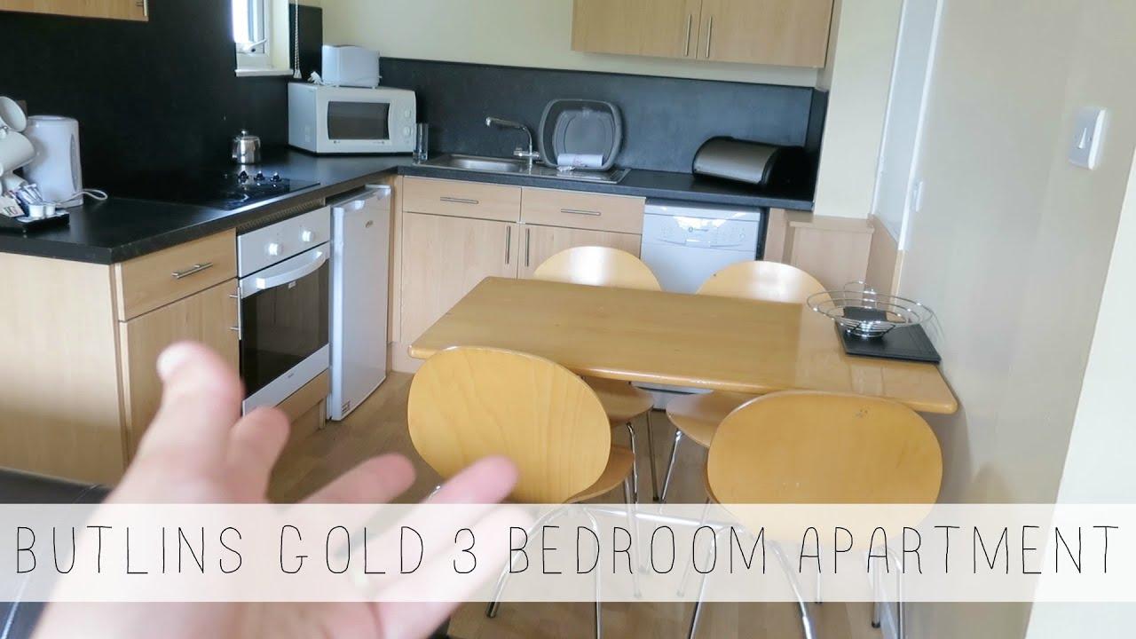 BUTLINS BOGNOR REGIS 3 BEDROOM GOLD APARTMENT ACCOMMODATION