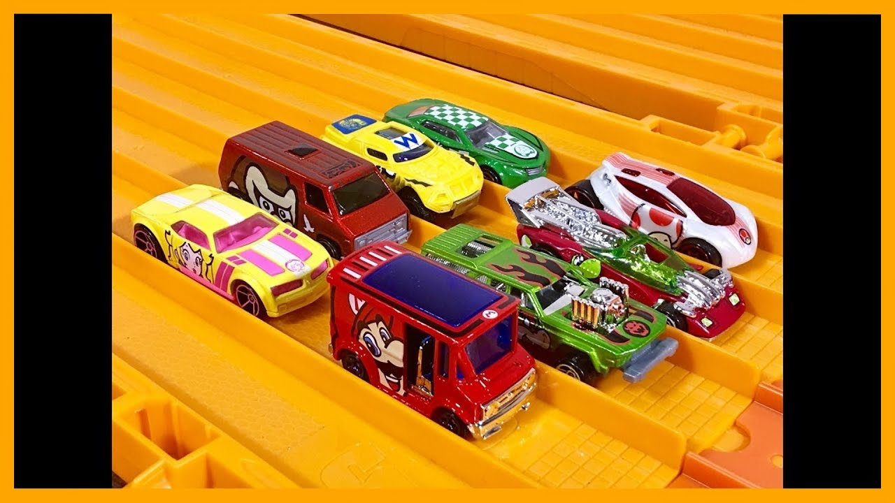 super mario 8 car set race review hot wheels youtube. Black Bedroom Furniture Sets. Home Design Ideas