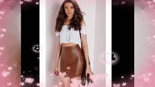 Leather mini skirt 2018