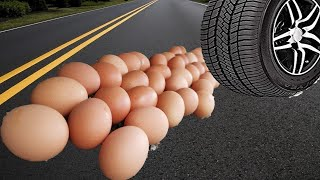 Crushing Crunchy & Soft Things by Car Compilation! EXPERIMENT CAR Vs Eggs