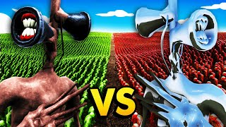 SIREN HEAD vs MECHA SIREN HEAD With 1,000,000 ZOMBIES (Ultimate Epic Battle Simulator/UEBS Gameplay)