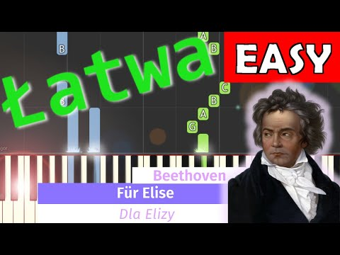 🎹 Dla Elizy (L. van Beethoven, For Elise) - Piano Tutorial (łatwa wersja) (EASY) 🎹