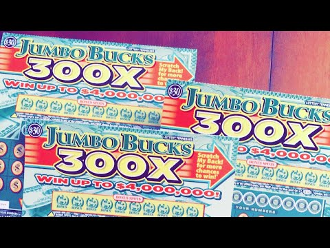 Match!! Jumbo Bucks 300x! New Tennessee 30$ticket