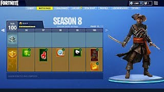 Saison 8 Tier 100 LEAKED With Battle Pass THEME à Fortnite!
