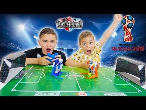 ON JOUE LE MATCH DE LA COUPE DU MONDE AVEC DES ROBOTS !!! -  Tomy Soccerborg
