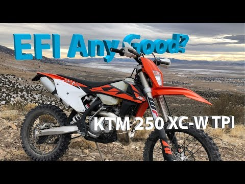 First Few Minutes on the 2018 KTM 250 XC-W TPI Fuel Injected 2 Stroke
