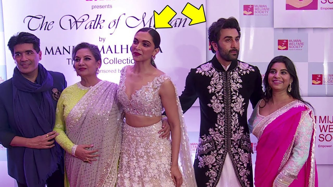 Deepika Padukone Ignores Ex Boyfriend Ranbir Kapoor At Mijwan Fashion Show 2018 Youtube