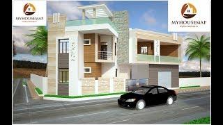 Stone Tile Ultra Modern Indian House Design Grooves Box Balcony | Indian House Design