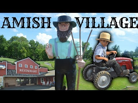 Amish Paradise Country in Lancaster Pennsylvania | Amish People Farm House Village