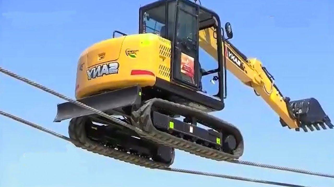 Extreme DANGEROUS IDIOTS Truck & CRAZY Excavator, Crane, Car Driving Skills Fails
