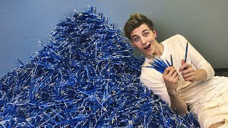 HOW MUCH INK IN 10000 PENS ?