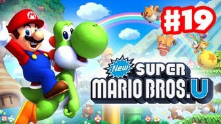 New Super Mario Bros. U - Walkthrough Part 19 - The Mighty Cannonship (World 5) (Wii U Gameplay)