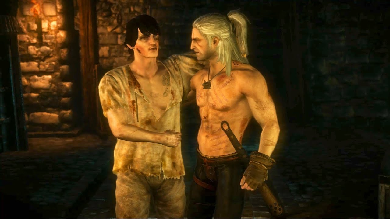 aryan la valette geralt spares knight s life witcher 2 castle assault