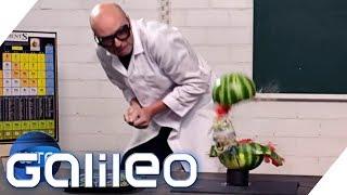 Warum platzt die Melone? Alltags-Physik erklärt | Galileo | ProSieben