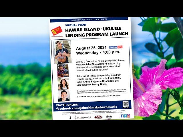 Hawaii Island Ukulele Lending Program Launch