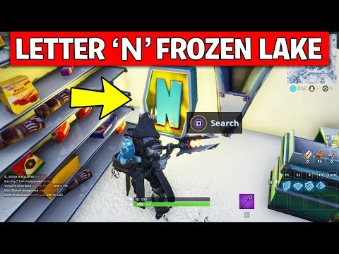 Search the letter 'N' under a Frozen Lake – LOCATION WEEK 4 CHALLENGE Fortnite Season 7
