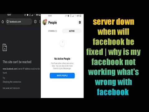 server down when will facebook be fixed | why is my facebook not working  what's wrong with facebook - YouTube
