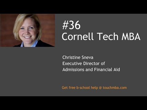 Cornell Tech NYC Johnson MBA Q&A with Christine Sneva