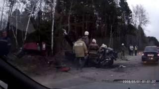 Авария 9 мая 2016 Рудничный-Краснотурьинск.