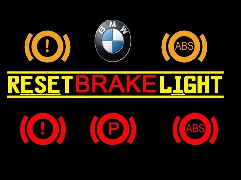 How To Reset The Brake Light On A Bmw Youtube