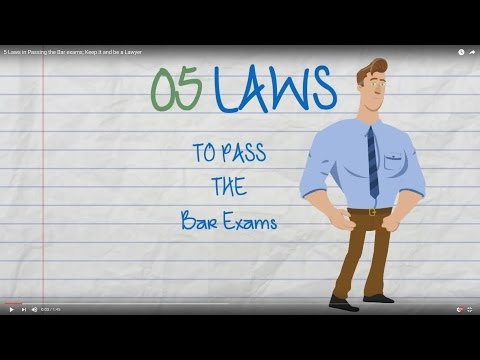 5 Laws in Passing the Bar exams; Keep it and be a Lawyer