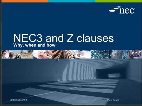 NEC Z Clause Webinar