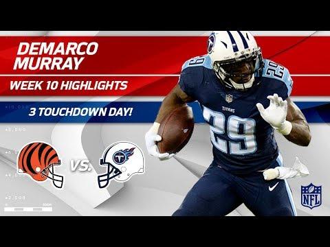 DeMarco Murray Gets the Hat Trick w/ 3 TDs vs. Cincinnati! | Bengals vs. Titans | Wk 10 Player HLs