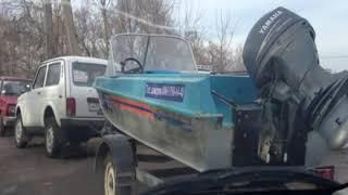Бриньковская в дни зимней рыбалки Улица Красноармейская 16 января 2013 года