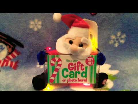 Gemmy Musical Gift Card Holder- Santa