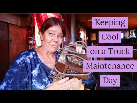 Repairing My Tiny House Truck/ RV and how I keep Cool