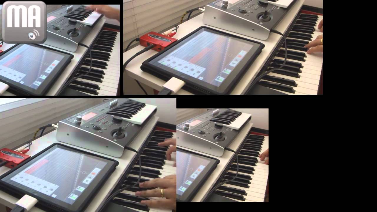 recording audio on ipad with behringer u control uca222 multitrack daw app youtube. Black Bedroom Furniture Sets. Home Design Ideas