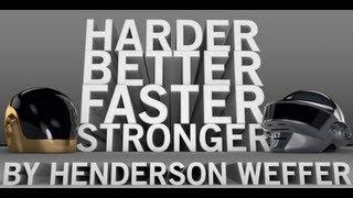 Repeat youtube video Daft Punk - Harder Better Faster Stronger 3D lyrics by HWeffer