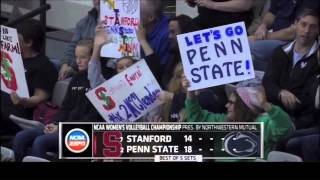 Penn State vs Stanford NCAA Volleyball 2013 [Set 1]