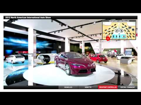 TOYOTA virtual booth - the North American International Auto Show 2012