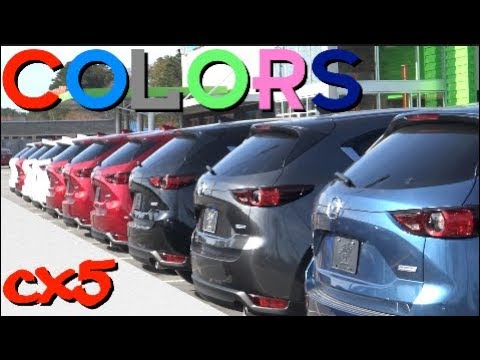 New 2017 2018 Mazda Cx5 Exterior Colors Review Youtube