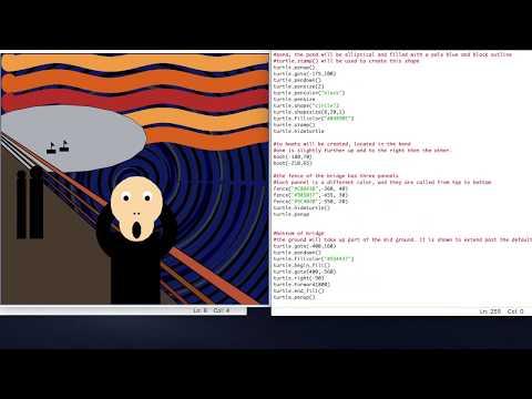 "Python Tutorial: Recreating Edvard Munch's ""Scream"" using Turtle thumbnail"