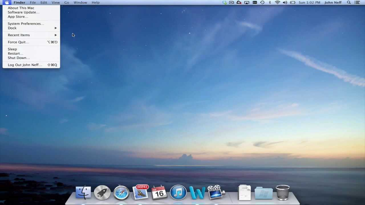 Mac OSX User Interface - YouTube