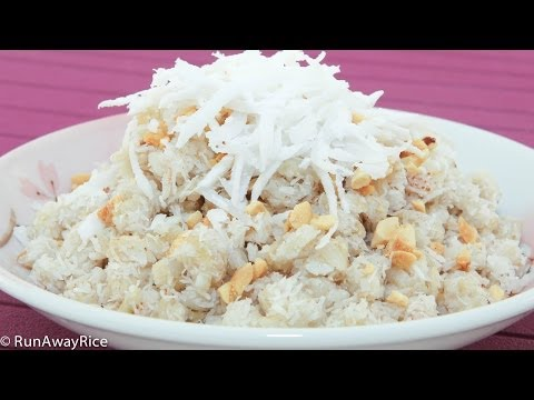 Sweet Rice Flakes and Coconut (Com Dep Tron Dua)