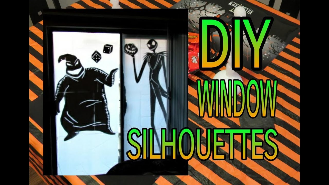 Halloween Window Cutouts | How To Make Halloween Window Silhouettes Diy Halloween Decor Youtube