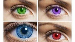 видео цветные контактные линзы купить
