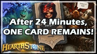 After 24 Minutes, ONE CARD REMAINS! - Boomsday / Hearthstone