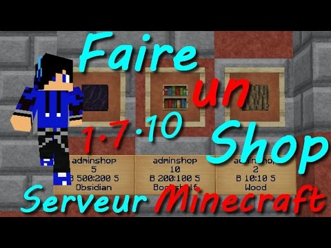 comment faire un shop dans son serveur minecraft 1 7 10 youtube. Black Bedroom Furniture Sets. Home Design Ideas