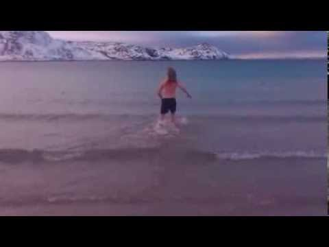 Swimming in the Arctic Ocean