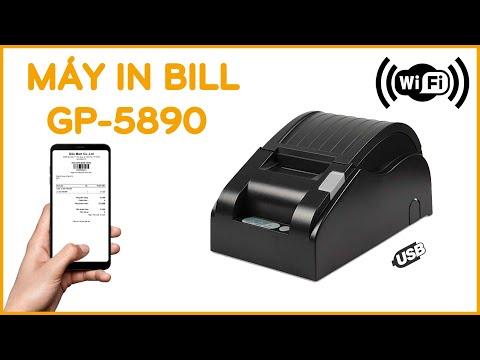 Máy in hóa đơn K58 WIFI GP5890. In hóa đơn tính tiền từ điện thoại và máy tính qua Wifi - Dâu Mart